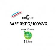 Extrapure - BASE en 0mg/ml 100VG - 1Litre