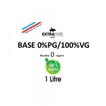 Extrapure - BASE 100 VG en 0mg/ml - 1Litre