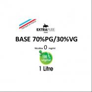 Extrapure - BASE en 0mg/ml 70 PG 30 VG - 1Litre