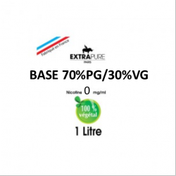 Extrapure - BASE 70 PG 30 VG en 0mg/ml - 1Litre