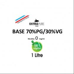 Extrapure - BASE 70 PG 30 VG en 0mg/ml - 1Litre