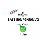 Extrapure - BASE en 0mg/ml 50 PG 50 VG - 1Litre