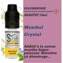 SOLUBAROME - ADDITIF MENTHOL CRYSTAL - 10 ml