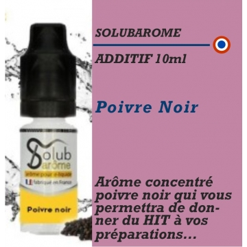 SOLUBAROME - ADDITIF POIVRE NOIR- 10 ml