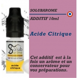 SOLUBAROME - ADDITIF ACIDE CITRIQUE - 10 ml