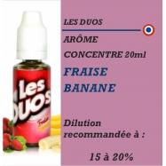 LES DUOS - ARÔME FRAISE BANANE - 20 ml