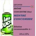 LES DUOS - ARÔME MENTHE CONCOMBRE - 20 ml