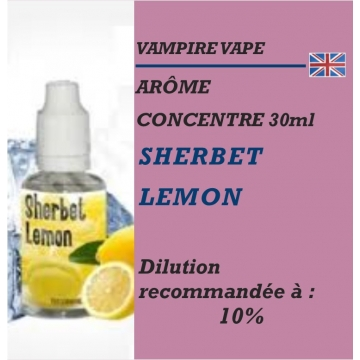 VAMPIRE VAPE - ARÔME SHERBET LEMON - 30 ml