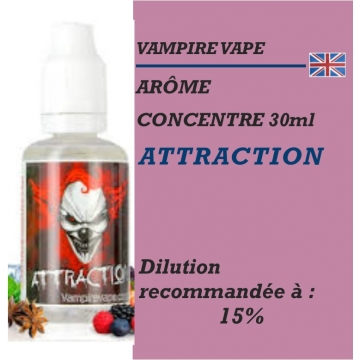 VAMPIRE VAPE - ARÔME ATTRACTION - 30 ml