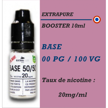 Extrapure - BOOSTER 0 PG 100 VG en 20mg/ml - 10ml