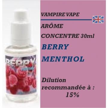 VAMPIRE VAPE - ARÔME BERRY MENTHOL - 30 ml