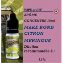 VAPE OR DIY - ARÔME MAKA ROND CITRON MERINGUE - 10 ml