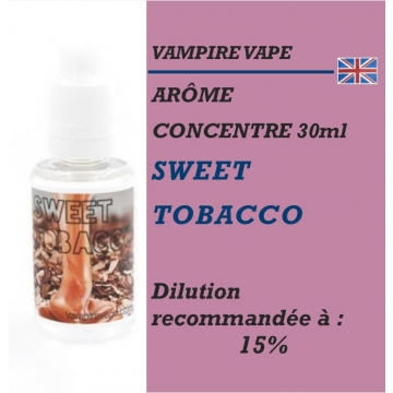 VAMPIRE VAPE - ARÔME SWEET TOBACCO - 30 ml