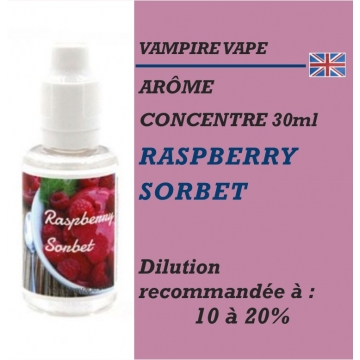VAMPIRE VAPE - ARÔME RASPBERRY SORBET - 30 ml
