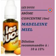 LES DUOS - ARÔME MADELEINE MIEL - 10 ml