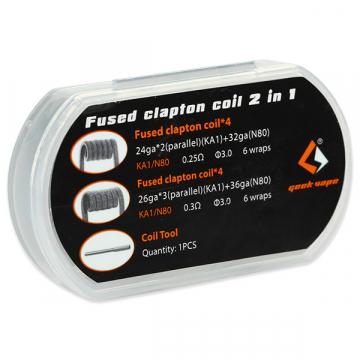 FUSED CLAPTON 2 en 1 (8pcs) de GEEKVAPE - 4x0.25 & 4x0.30