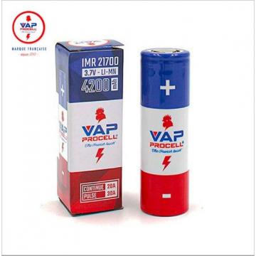 Batterie IMR 21700 30A 4200mAh - VAP PROCELL