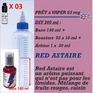 PRÊT A VAPER 200 ml en RED ASTAIRE 3mg de NICOTINE