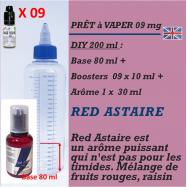 PRÊT A VAPER 230 ml en RED ASTAIRE 9mg de NICOTINE