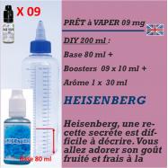 PRÊT A VAPER 200 ml en HEISENBERG 9mg de NICOTINE