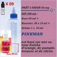 PRÊT A VAPER 200 ml en PINKMAN 9mg de NICOTINE