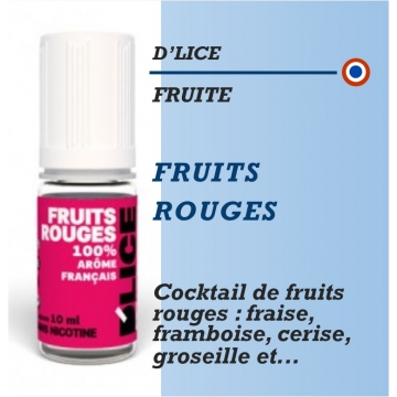D'Lice - FRUITS ROUGES - 10ml